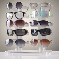 10 Pairs Of Eyeglasses Sunglasses Glasses Frame Counter Display Show Stand Holder