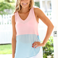 Sweetly Yours Color-block Tank