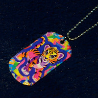 Lisa Frank Dogtag Necklace