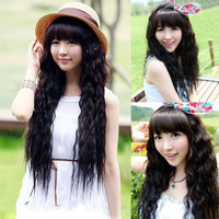New Fashion Womens Lady Curly Wavy Long Hair Full Wigs Party Cosplay 4 Colors