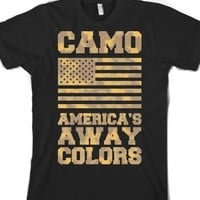 America's Away Colors-Unisex Black T-Shirt