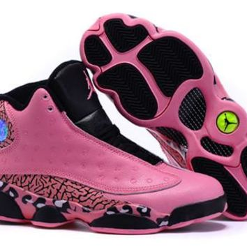 Hot Nike Air Jordan 13 Retro Women Shoes Pink Leopard Print