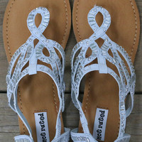 Chase Away The Blues Light Blue Sandals