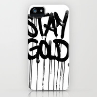 Stay Gold iPhone & iPod Case by Itsaliving