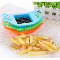 New PVC + Stainless Steel French Fry Fries Cutter Peeler Potato Chip Vegetable Slicer Cooking Tools