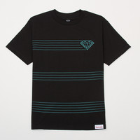 Striped Tee in Black