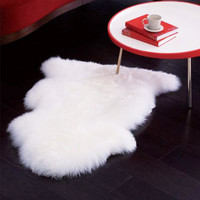 Authentic Sheepskin Accent Rug - White