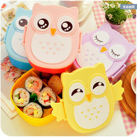 Owl Portable Lunch Dinner Box Microwave Oven Bento Food Container Storage CaseD