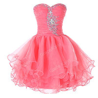 Cheap Sale ~ Short Mini Formal Dress Cocktail Evening Party Prom Ball Gown Dress