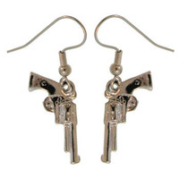 100% Nickel Free!  Gun Earrings, Quality Made in USA!  A GirlPROPS Exclusive!