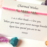 Sister bracelet | I love you jewellery | Gift for sister | sister gift | 143 jewellery | Present for sister | special sister gifts |