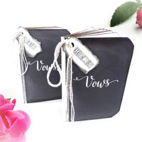 Rustic Wedding Vows Books - His and Hers - Set of 2