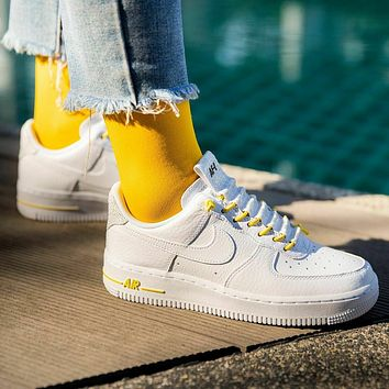 """Nike Air Force 1 Low Lux """"White"""" low-top versatile casual sports running shoes"""