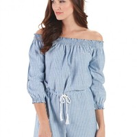 It's All Good Chambray Romper   Monday Dress Boutique