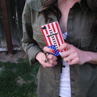 American Flag Cross Studded iPhone 4/4s case