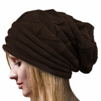 Amazing Lady Crochet Knitted Women Hat Winter Warm Beanie Warm Caps Free Shipping