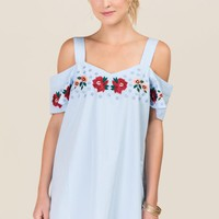 Gretchen Floral Embroidery Shift Dress
