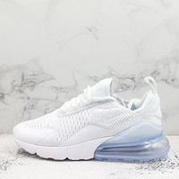 Nike Air Max 270 Triple White Running Shoes - Best Deal Online