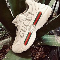 Adidas Gucci men's and women's cushioning casual sneakers shoes