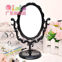 A065 Rose Flower Style Mirror*Butterfly Rose Flower Rotating Table Mirror