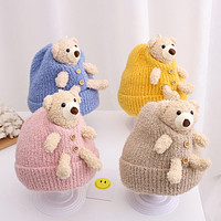 Baby Hat Autumn And Winter Cotton Baby Wool Hat 3 Young Children Kids Winter 6 Thickening Boys 12 Months Male
