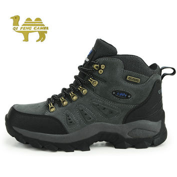 Trekking Shoes Man Brand Men's Hiking Shoes Anti-skid Mountain Climbing Boots Outdoor Athletic Breathable Men Waterproof 1216