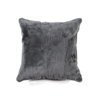 "18"" x 18"" Grey Sheepskin Pillow"