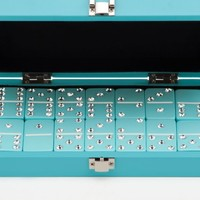 Bling Domino Set With Aquamarine Lacquer Case | Games & Toys | Gifts | Z Gallerie