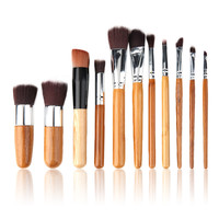Sale 1 Bamboo Handle Professional Makeup Cosmetic Soft Eyeshadow Foundation Concealer Brush Set Brushes Beauty Tool