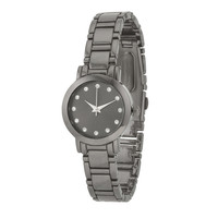 Gunmetal Watch With Crystals