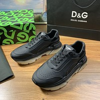 D&G  Men Fashion Boots fashionable Casual leather Breathable Sneakers Running Shoes