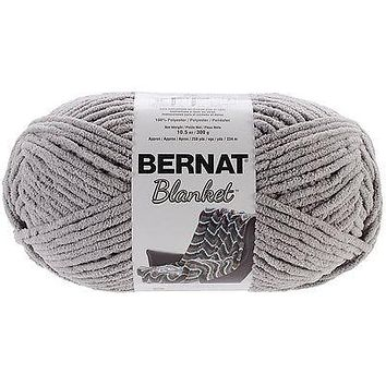 Bernat Blanket Yarn in Pale Grey Super Bulky Yarn