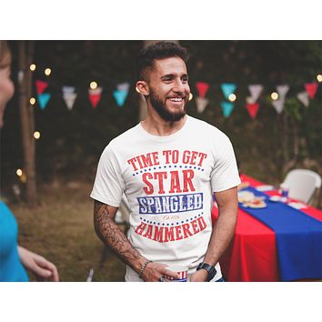 Time To Get Star Spangled Hammered Men's Shirt