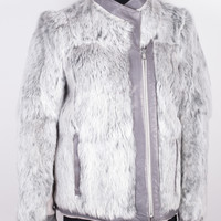 Reversible Rabbit Fur Coat size:S