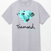 Diamond Supply Co Floral OG Sign T-Shirt - Mens Tee - Grey