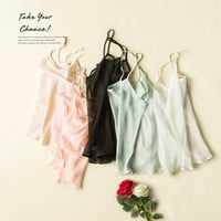 100% pure REAL SILK basic women solid simple Camisoles high quality bralet body Transparent  New 2016 silk top