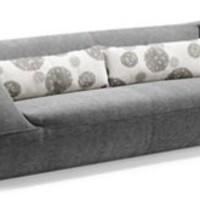 Zuo Modern - Event in Gray Sofa w/Light Gray Floral - 900036
