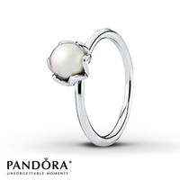 Pandora Ring Cultured Pearl Sterling Silver