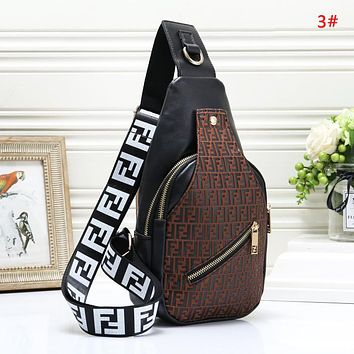 Fendi Fashion New More Letter Leather Women Men Leisure Shoulder Bag 3#