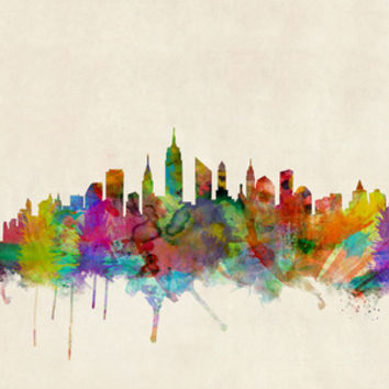 New York City Skyline Art Print by ArtPause
