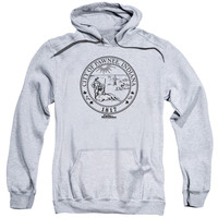 PARKS & REC/PAWNEE SEAL-ADULT PULL-OVER HOODIE-ATHLETIC HEATHER
