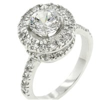 Cotia Majestic Halo Engagement Ring | 4ct | Cubic Zirconia | Silver