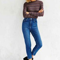 BDG Girlfriend High-Rise Jean - Rinsed Indigo
