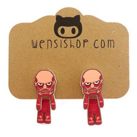 Colossal Titan (Attack on Titan Inspired) Cling Earrings