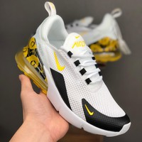 Nike Air Max 270 White Black Yellow Floral Running Shoes