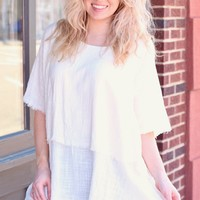 White Layered Tunic Top