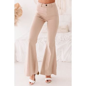 New Energy Flared Bell Bottom Jeans (Taupe)