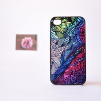 iPhone 4 Case - Psychedelic Chaos iPhone 4 Case - Illustration iPhone 4 Case - Plastic iPhone Case