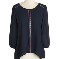 ModCloth Mid-length 3 Say You Tranquil Top