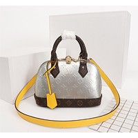 LV Louis Vuitton WOMEN'S MONOGRAM LEATHER ALMA BB HANDBAG SHOULDER BAG